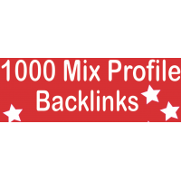 1000 High PR Mix Profile backlinks