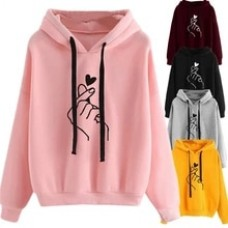 Plus Size Pullovers Girls Long Sleeve Hoodies