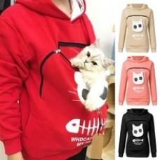 Cat Lovers Hoodie Kangaroo Dog Pet Paw Dropshipping Pullovers Cuddle Pouch Sweatshirt Pocket Animal Ear Hooded