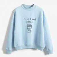Autumn Winter Harajuku Hoodie Sweatshirt For Women Casual Keep Warm Letters Printed Top Sweat Shirt Round Neck Pullovers