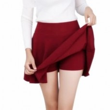 Women's High Waist Pleated Skirts Pants