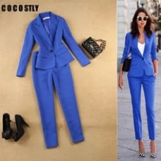 Pant Suits Set women's autumn female professional office lady two sets