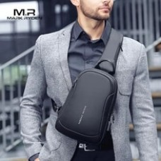 Mark Ryden Multifunction Crossbody Men Bags Waterproof USB Charging Chest Pack Short Trip Messengers bag