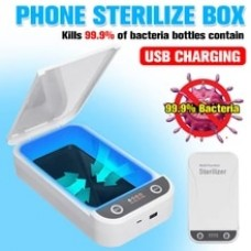 5V UV Light Phone Sterilizer Box Jewelry Phones Cleaner Personal Disinfection Cabinet with Aromatherapy