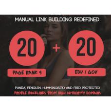 20 Pr9 + 20 Edu - Gov High Pr SEO Authority Backlinks