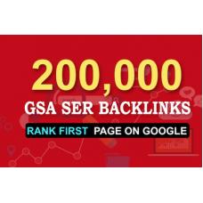 200k gsa ser seo backlinks for faster website ranking
