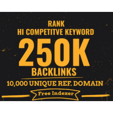 Build 250k backlinks from 10k unique referring domain