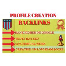30 HQ profile creation or social profile backlinks