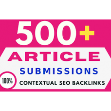 500 article submission contextual backlinks for google rank