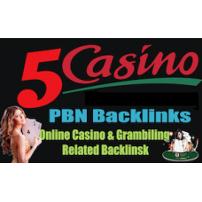 5 Manual PBN -Homepage Dofollow Backlinks from Poker, Gambling,Casino With index