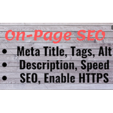 Complete On Page Seo, On site seo with Meta Title, Meta Tags, Alt Tags