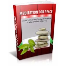 Meditation For Peace