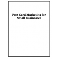 Post Card Marketing for Small Businesses