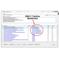 Backlinks Analyzer pro software