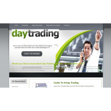 100% Autopilot Money Making Clickbank Affiliate Website-Day Trading Niche