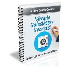 Simple Salesletter Secrets