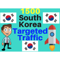 1500 South Korea TARGETED traffic to your web or blog site