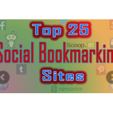Manually 25 Top PR10-5 Social Bookmarks