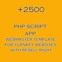 2500+ php script collection for turnkey websites with resell right
