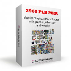 2900 PLR MRR ebooks,plugins,softwares,video with graphics,sales copy website