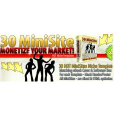 30 Mini SiteTemplates with master resell rights 100% profits