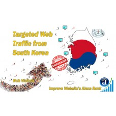 25.000 South Korea web visitors real targeted geo traffic