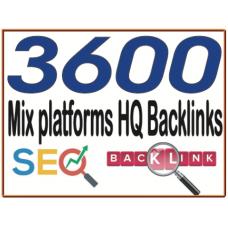 3600 HQ. Mix platforms PR10 to PR6 Backlinks