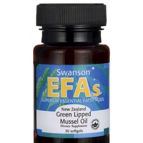 Swanson EFAs New Zealand Green Lipped Mussel Oil 30 Softgels