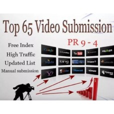 SEO Video submission on 65 video sharing sites PR 9. Increase your video Ranking