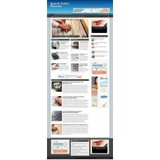 Established Clickbank Affiliate Blog Website-Public Records Niche