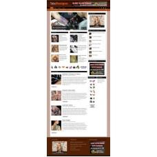 Established Clickbank Affiliate Blog Website-Tattoo Designs Niche