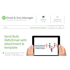 Bulk email and SMS manager sender  for 1 year