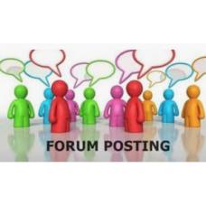 100+ words x 7 original high quality forum posting