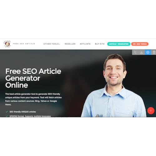 SEO Article Generator website for sale
