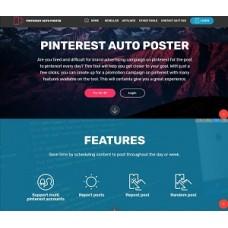Pinterest Auto Poster Reseller Website