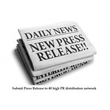 Submit Press Release to 40 high PR distribution network including PRBuzz