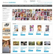 Online course ebooks reseller website for sale