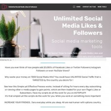 Unlimited Social Media Likes Followers Website For Sale