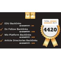 4420 Do-follow EDU, Article directories and Mix platforms backlinks