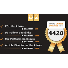 4420 Do-follow EDU, Article directories and Mix platforms backlinks
