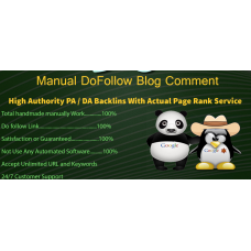 Manually 90 High PA & DA Blog Comment Backlinks