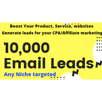 Boost your product with niche targeted 10,000 mail/leads